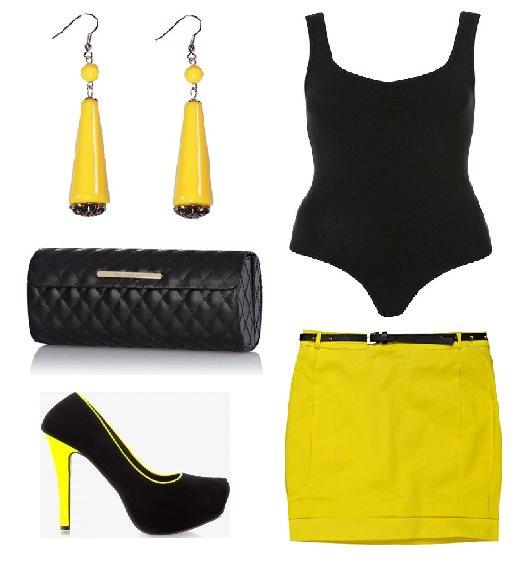 Stylizacja czarno żółta