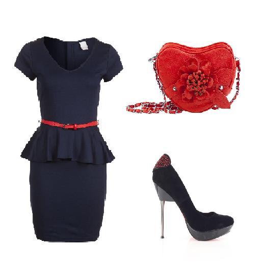 Stylizacja z sukienką baskinką