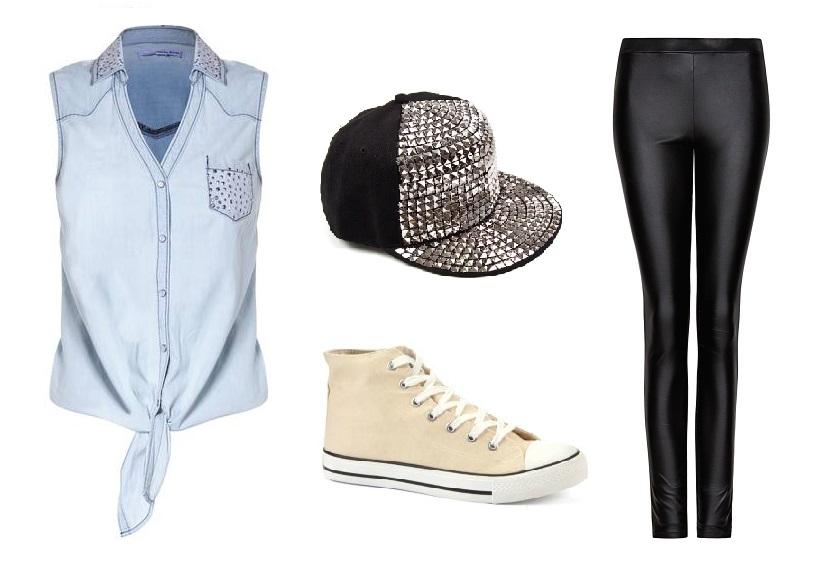 Stylizacja Jeans&Skóra