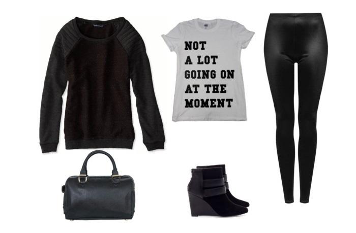 Stylizacja casual czarna