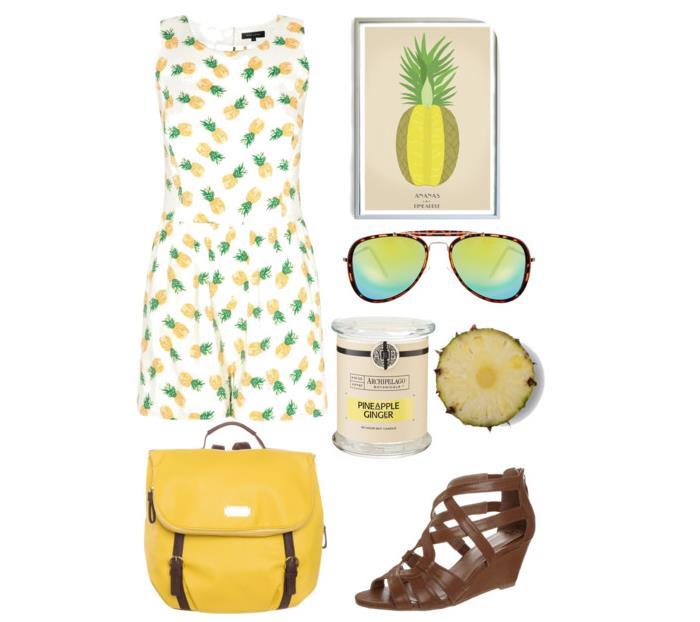 Stylizacja letnia ananasowa