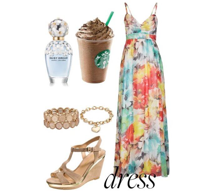 Stylizacje letnia sukienka maxi