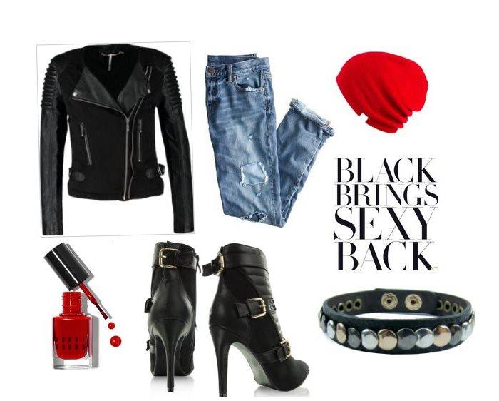 Stylizacja Red & Black