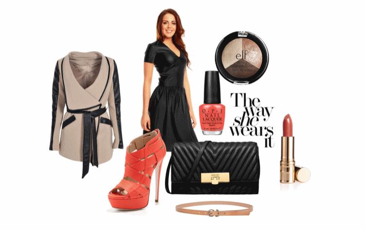 Stylizacja ze skórzaną sukienką